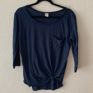 Hollister Navy Blue Long Sleeve Shirt
